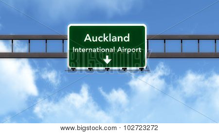 Auckland New Zealand Airport Highway Road Sign