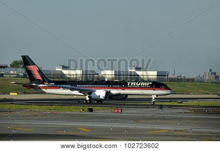 Jet Airplane With Trump's Logo