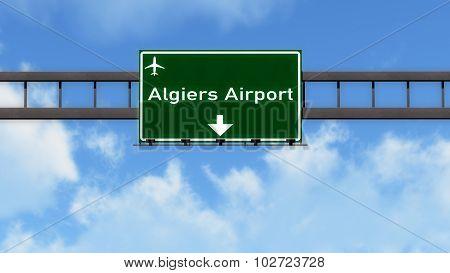 Algiers Algeria Airport Highway Road Sign