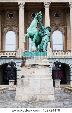 Buda Castle, Prince Eugene of Savoy statue in Budapest, Hungary
