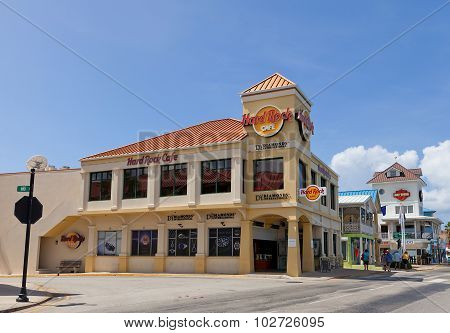 Hard Rock Cafe In George Town Of Grand Cayman Island