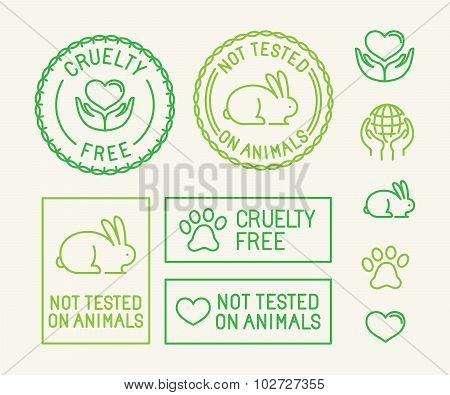 Vector Set Of Ecology Badges And Stamps For Packaging