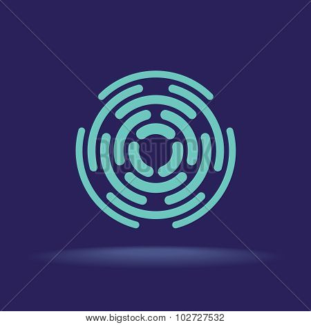 Abstract Circle Segments Sign
