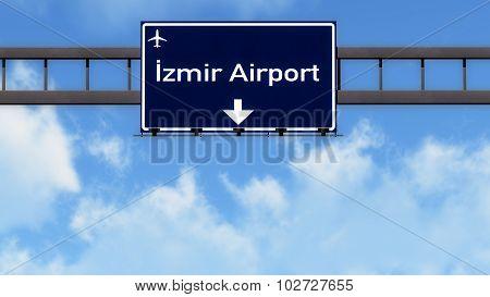 Izmir Turkey Airport Highway Road Sign