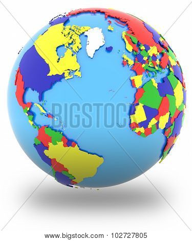 Western Hemisphere On The Globe