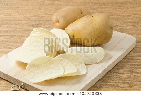 Potato Tuber And Potato Chips Or Crisp