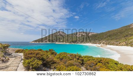 Walkway to Little Beach near Albany Western Australia