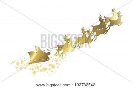 Christmas Golden Sleigh