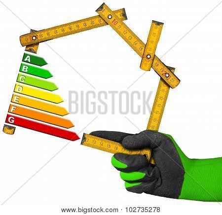 Energy Saving Concept - Wooden Meter