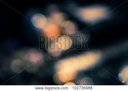 Abstract Blur Bokeh Defocused Of Light In City  Split-tone Background