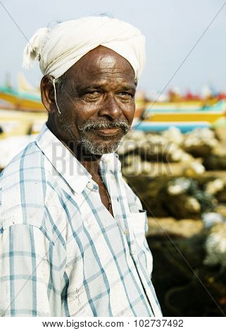 Indian Fisherman Kerela India Poverty Lifestyle Concept