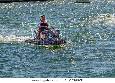 People on a jetski