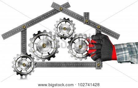 House With Gears - Metallic Meter