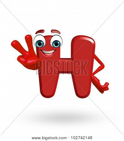 Cartoon Character Of Alphabet H