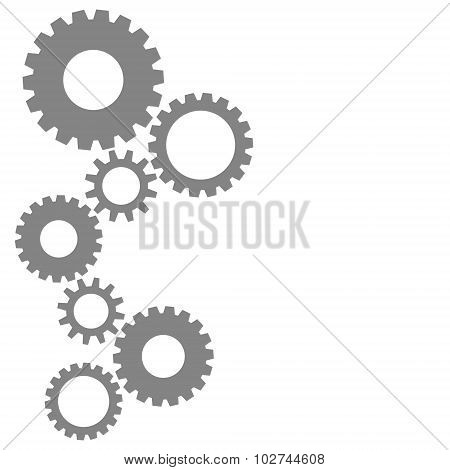 Cog Gear Wheels In Grey