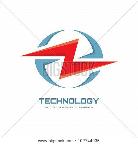 Electron - vector logo concept illustration. Lightning logo. Electricity power logo.