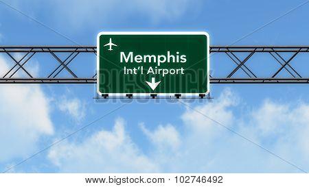 Memphis Usa Airport Highway Sign