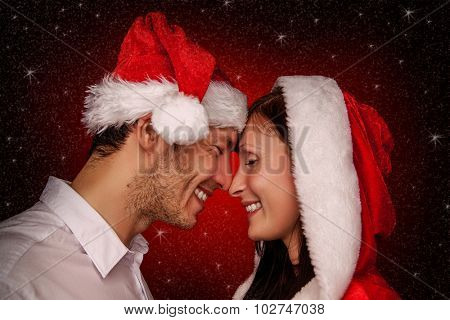 laugihinh smiling christmas pair