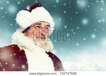 Santa Winter Seasonal New Year Snowing Concept