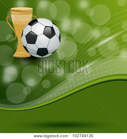 Football card with ball and prize