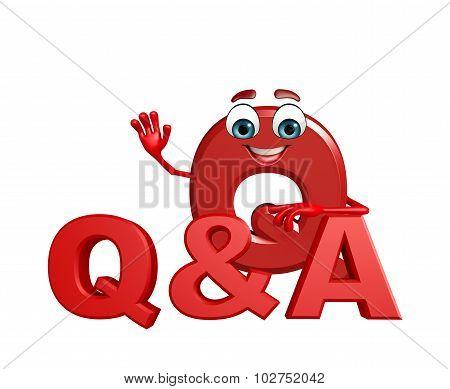 Cartoon Character Of Alphabet Q