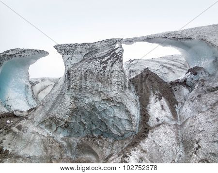 Glacier Detail In Iceland