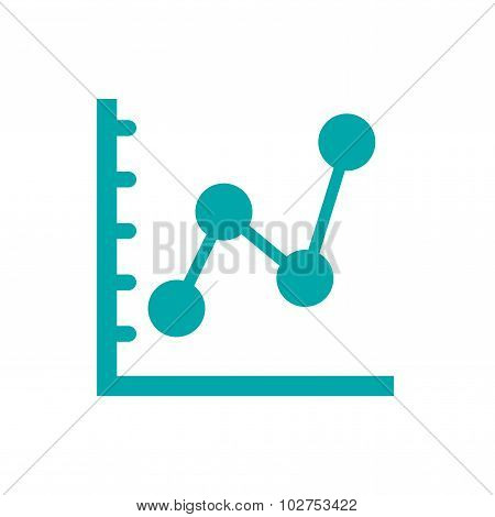 Marked Line Chart Icon - Chart Icon - Info Graphic Chart Icon
