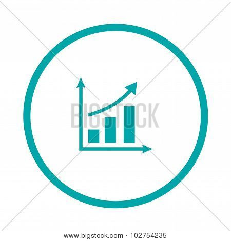Growing Graph Icon. Infographic. Chart Icon. Growing Graph Simbol.