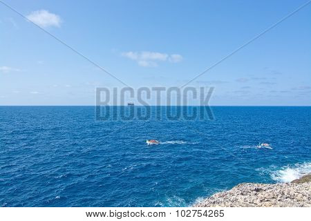 Tour Boats At Sea