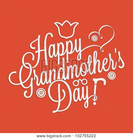 Happy Grandmother's Day Lettering