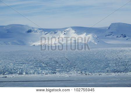 Glacier Lagoon Jokulsarlon At Vatnajokull