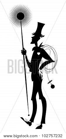 Chimney Sweep. Black And White.