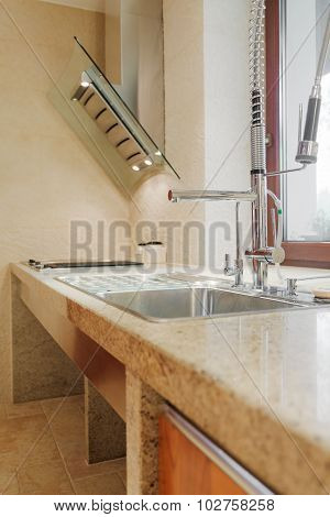 Solid Kitchen Sink And Worktop