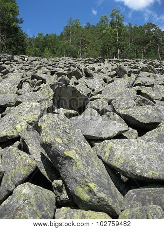 The grey stones in the Carpathian mountains