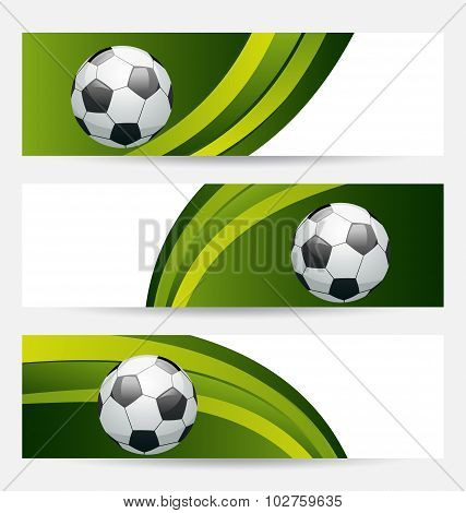 Set football cards with place for your text