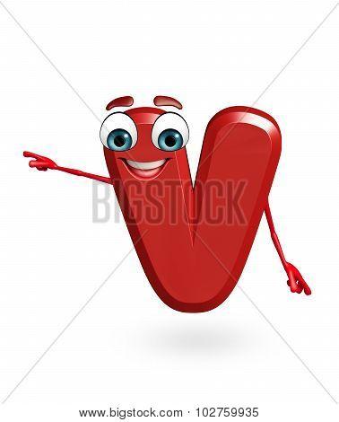 Cartoon Character Of Alphabet V