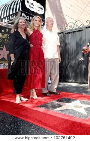 LOS ANGELES - SEP 24:  Carla Danes, Claire Danes, Christopher Danes at the Claire Danes Hollywood Walk of Fame Star Ceremony at the Hollywood Blvd on September 24, 2015 in Los Angeles, CA