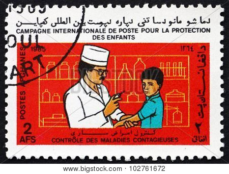 Postage Stamp Afghanistan 1985 Immunization