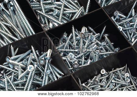 Screw in plastic organizer box