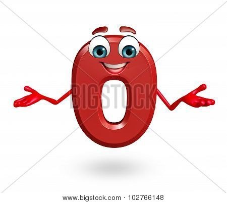 Cartoon Character Of Zero Digit