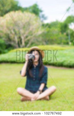 blured portrait of girls