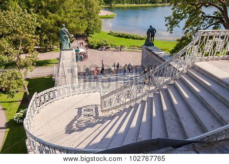Stairs To The Cameron Gallery Of The Catherine Palace At Tsarskoye Selo (pushkin), St. Petersburg, R