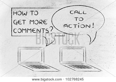 How To Get More Comments? Call To Actions