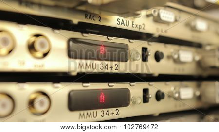 optical multiplexer in the server room mobile operator