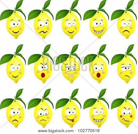 Lemons with feature a different expression
