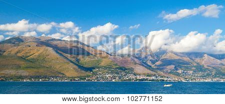 Panoramic Summer Landscape Of Gaeta Bay