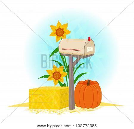 Mailbox And Haystack