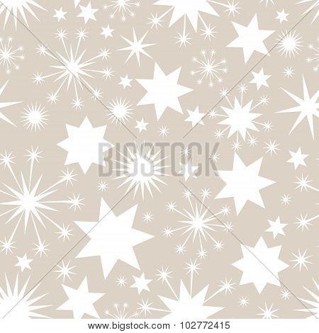 Elegant Christmas seamless background with stars