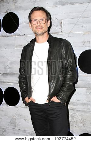 LOS ANGELES - SEP 24:  Christian Slater at the VIP Sneak Peek Of go90 Social Entertainment Platform at the Wallis Annenberg Center for the Performing Arts on September 24, 2015 in Los Angeles, CA