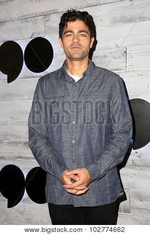 LOS ANGELES - SEP 24:  Adrian Grenier at the VIP Sneak Peek Of go90 Social Entertainment Platform at the Wallis Annenberg Center for the Performing Arts on September 24, 2015 in Los Angeles, CA